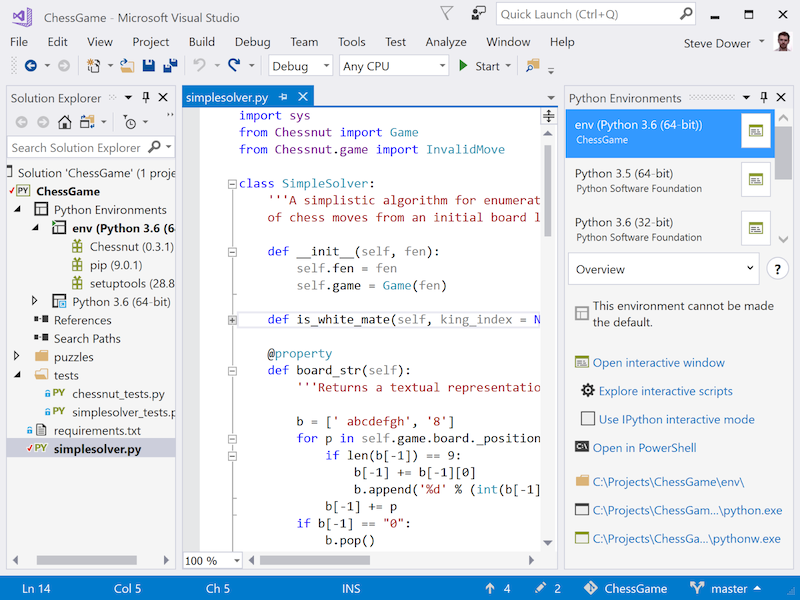 Python support in Visual Studio 2017 or the lack thereof · Nicola