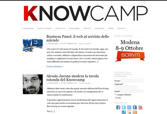 KnowCamp 2011